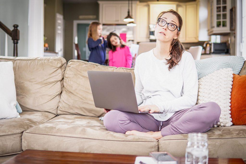 Télétravail et enfants: rester productive